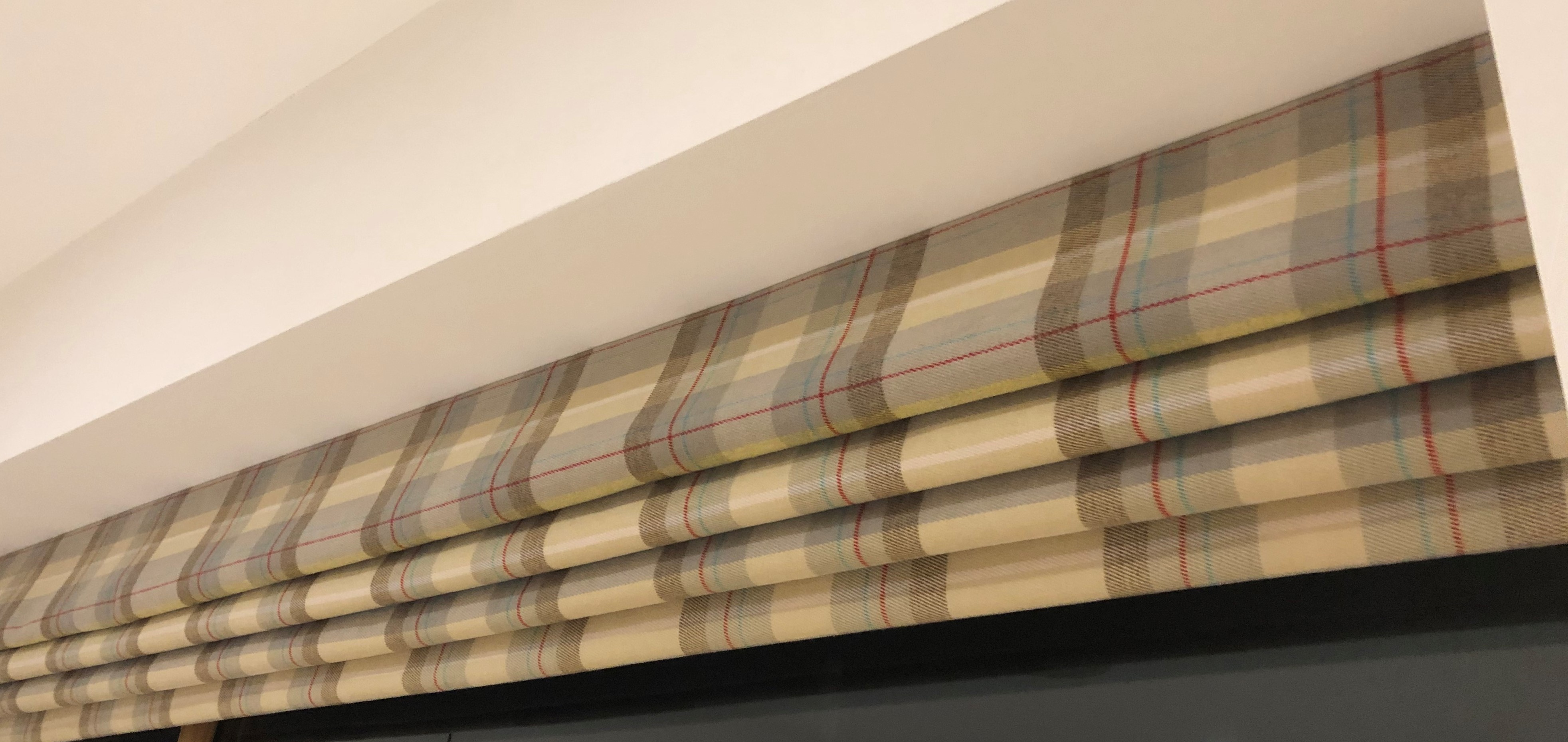 Roman Blind Wizard Wool Plaid Wide blind